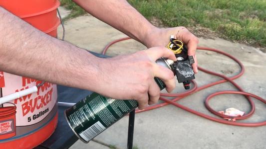 Spraying the Water Level Sensor Switch