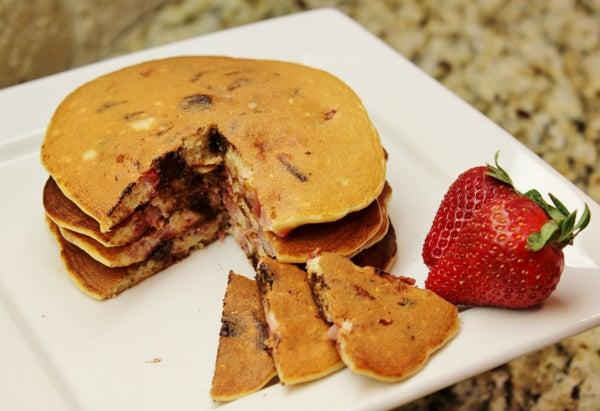 Strawberry Chocolate Chip Pancakes (gluten Free)