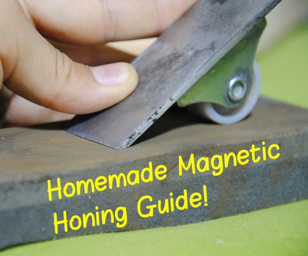 How to Make a Magnetic Honing Guide (For Sharpening Chisels & Hand Planes)   DIY Woodworking Tools #5