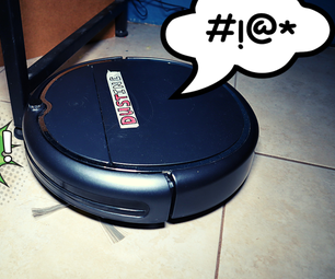 Robot Vacuum That Feels Pain! ( Attiny85 + DFplayer Mini )