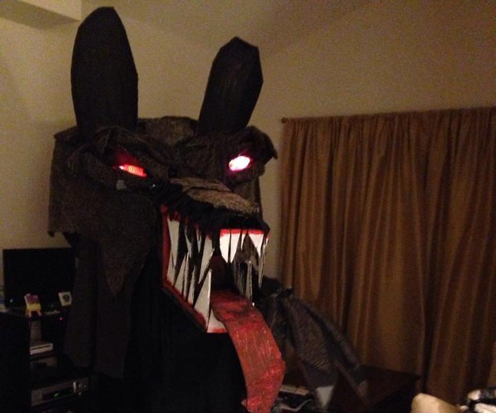 Giant Big Bad Wolf Head Halloween Costume