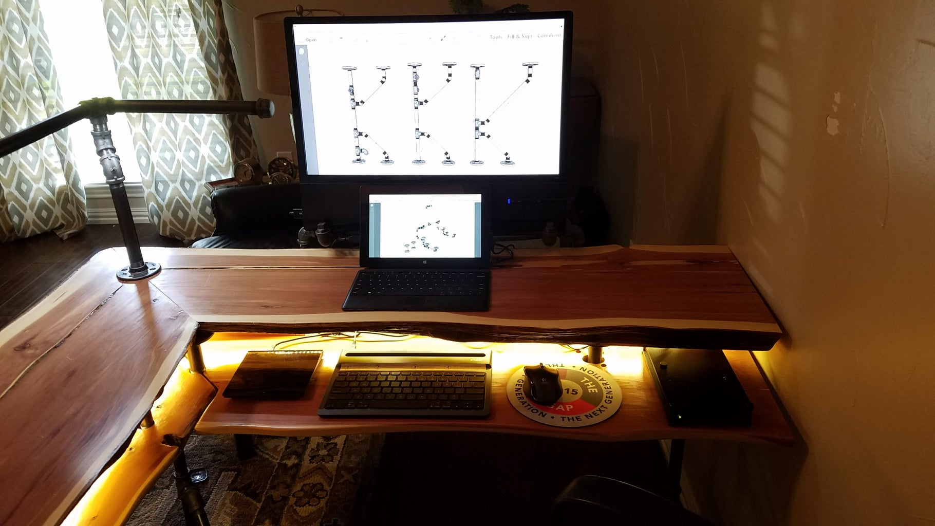 Adding the Keyboard and Storage Shelves