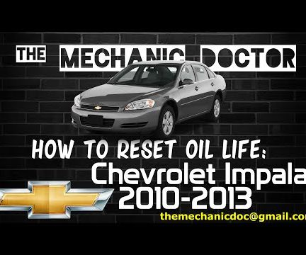 How to Reset Oil Life: Chevrolet Impala 2010-2013