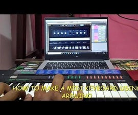 How to Make Midi Keyboard Using Arduino