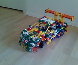 Knex Supercar With Mods! **Spoiler Angle**Brake System With Pics**