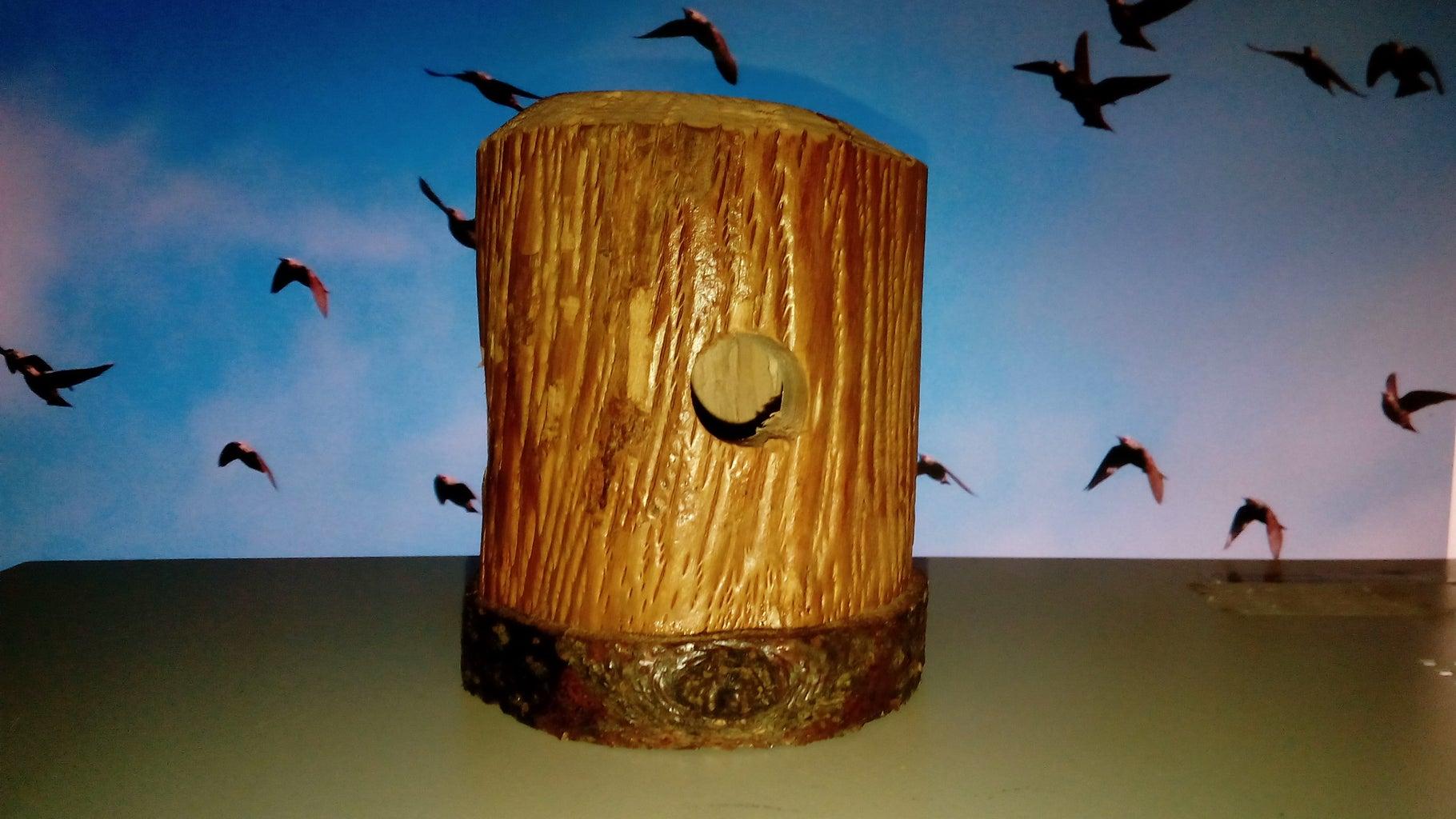 The Log Birdhouse