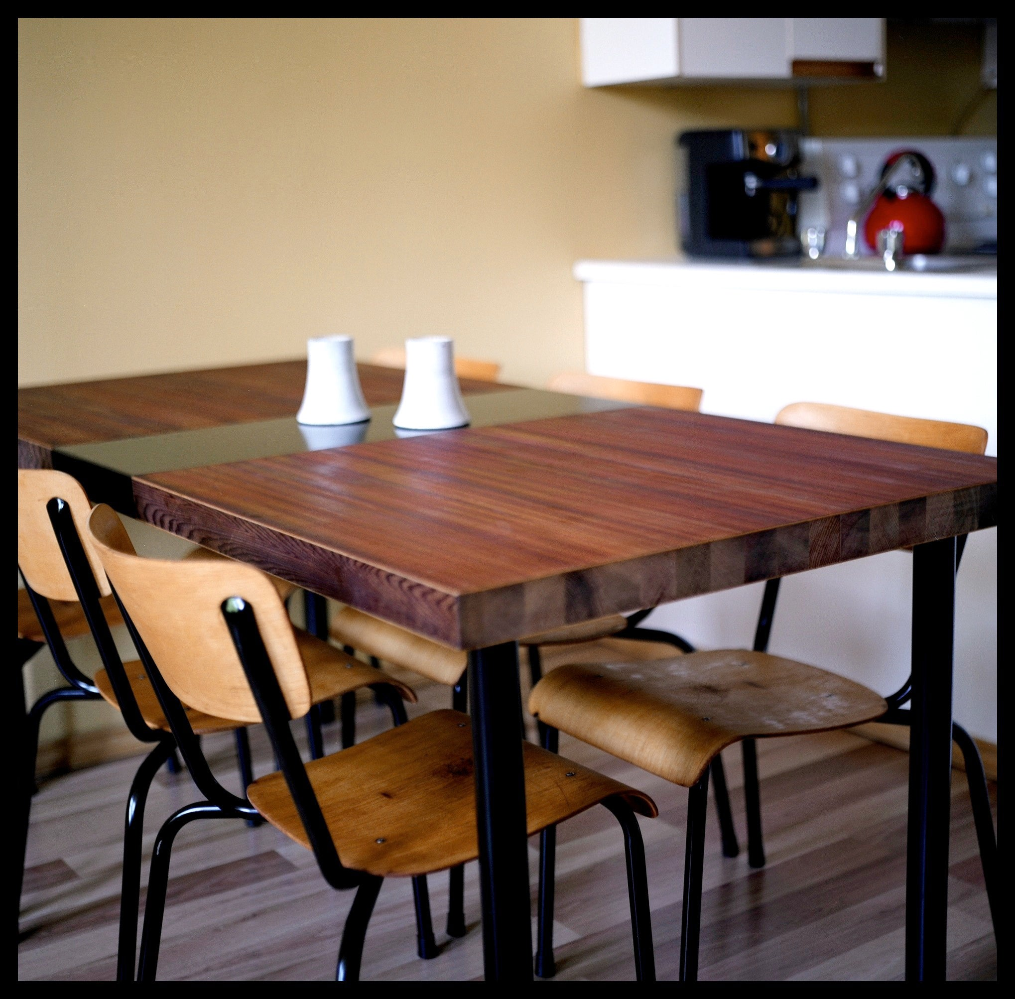 Dining Table Made From A Reclaimed Door 5 Steps With Pictures Instructables