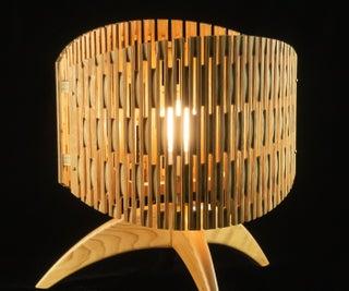 Mid-Century Flexible Plywood Lamp