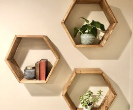 DIY: Set of Three Hexagon Shelves