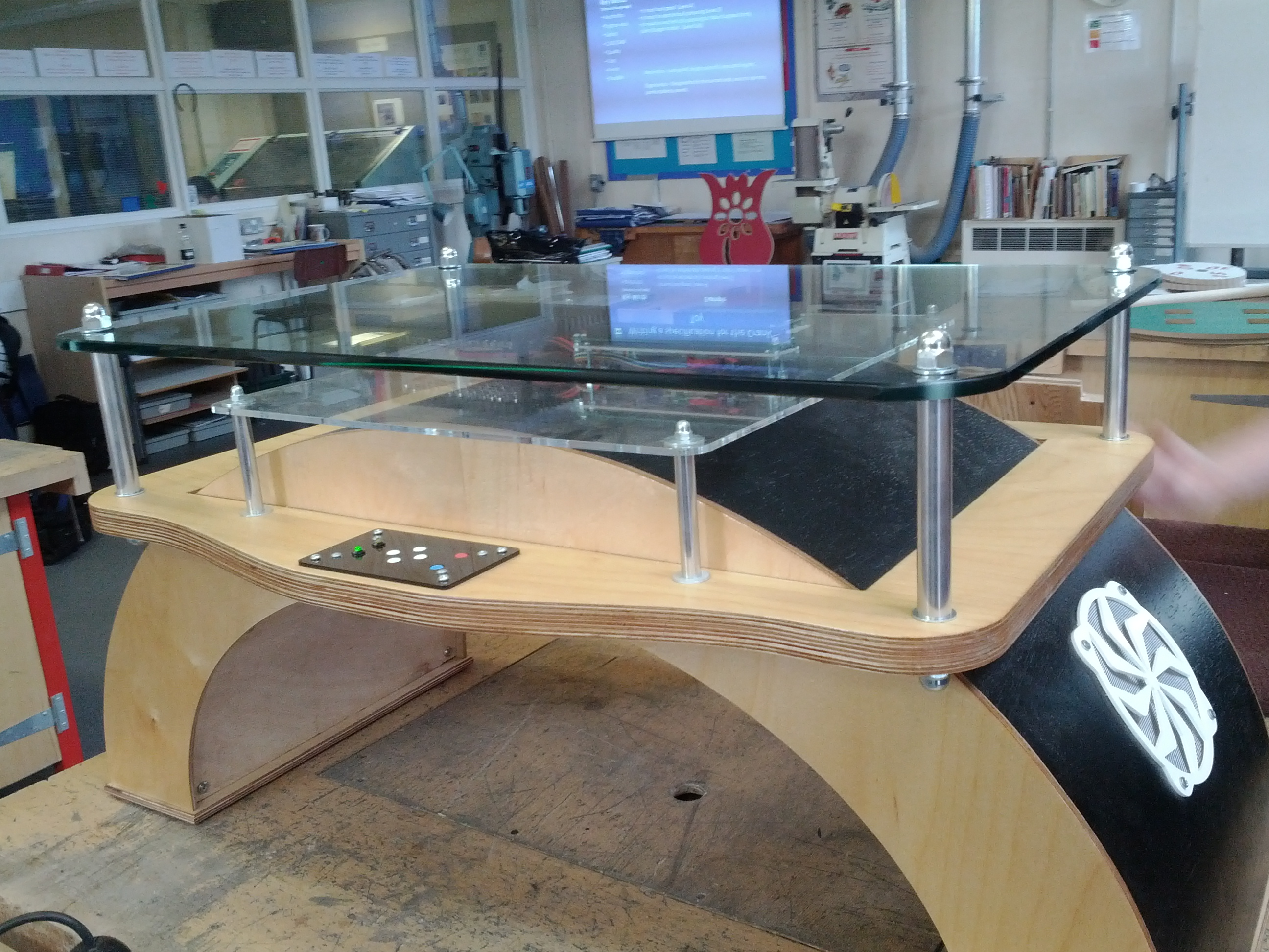 Interactive Arduino Powered Coffee Table