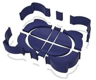3D印刷的Beyblade Arena