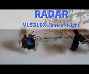 RADAR Lidar System VL53L0X Laser Time-of-Flight