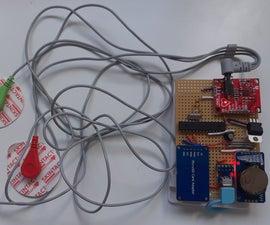 Simple, Portable Continuous ECG/EKG Monitor Using ATMega328 (Arduino Uno Chip) + AD8232
