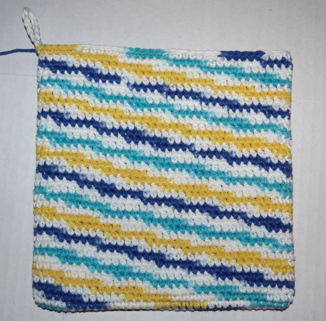 Decide Whether You Would Like the Right Side or the Wrong Side to Show on the Outside of the Potholder.