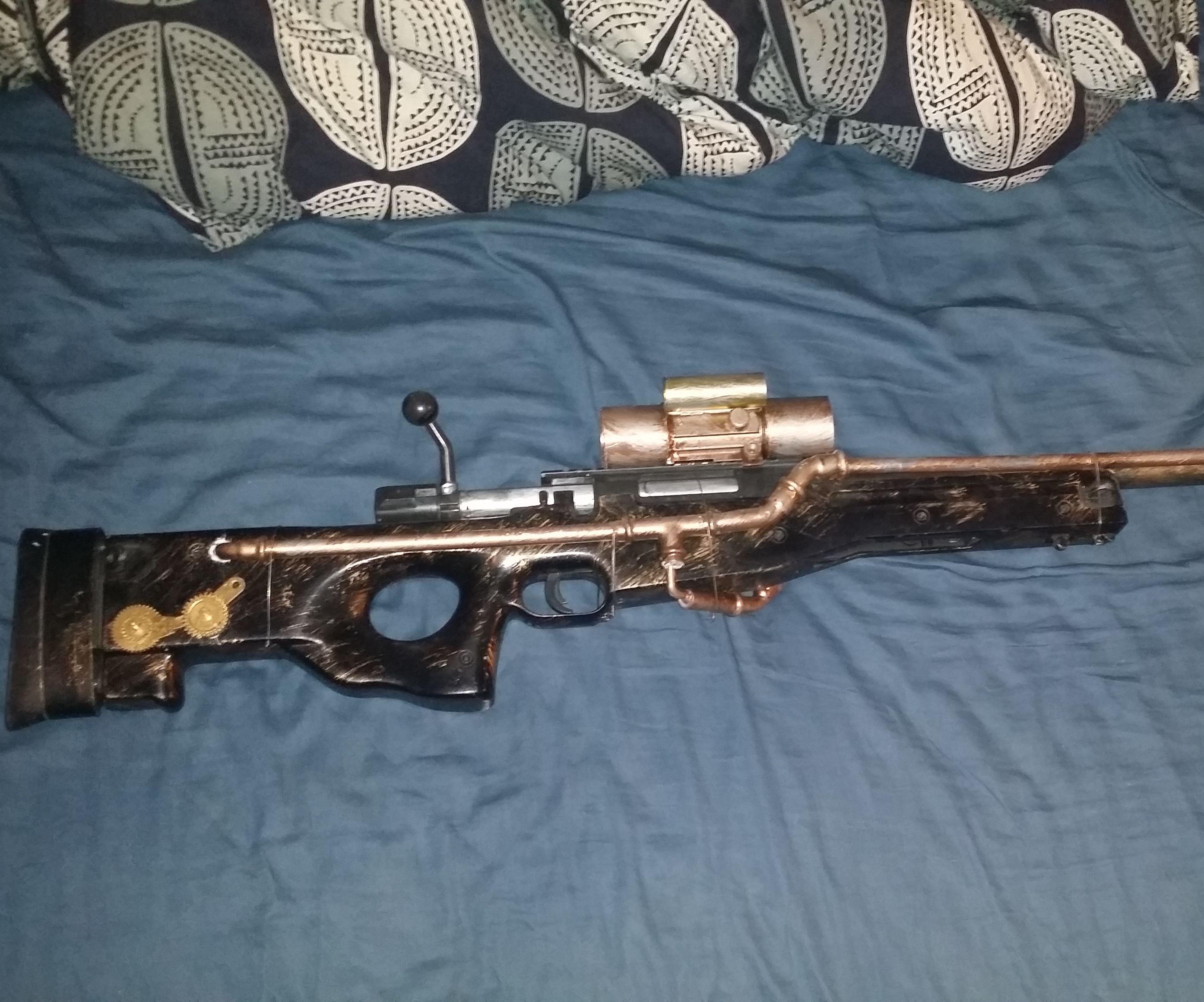 steampunk T96 airsoft rifle