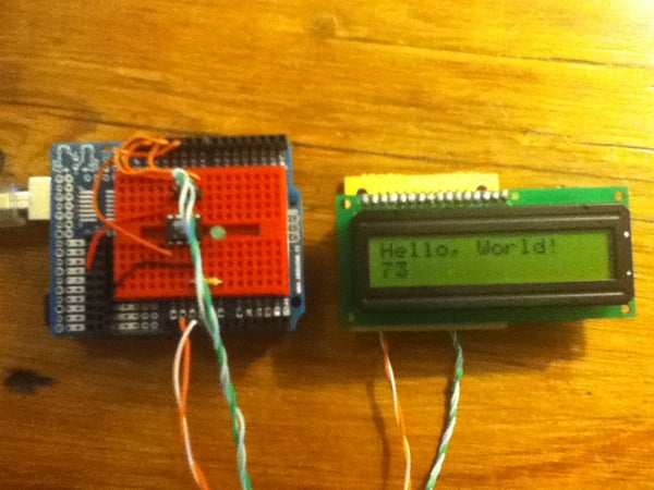 ATTiny45/85 LCD Display Control With a Shift Register, Programmed in Arduino