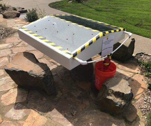 Water Purifying Solar Distillery
