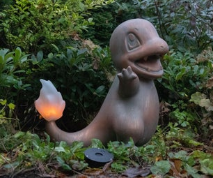 Life-Size Charmander Flame Lamp