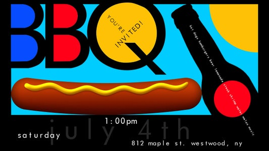 Make a Colorful BBQ Party Invitation Poster in Photoshop