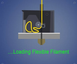 Loading Flexible Filament to Extruder