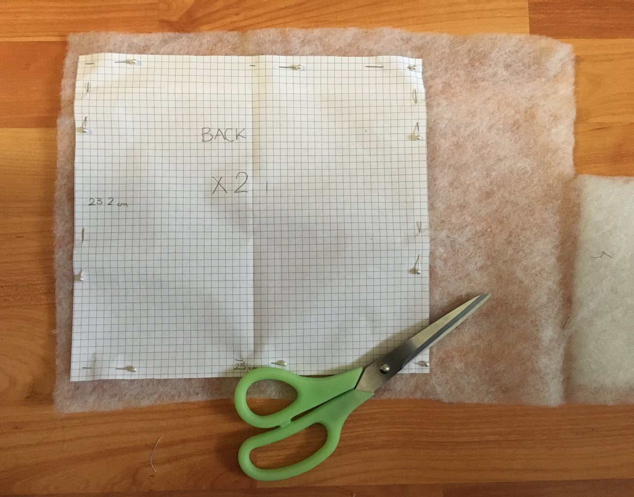 Cutting Out Quilt Batting for Back