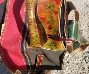 流浪者手工制作的皮革背包