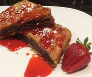 Chocolate Hazelnut Stuffed French Toast With Homemade Strawberry Syrup