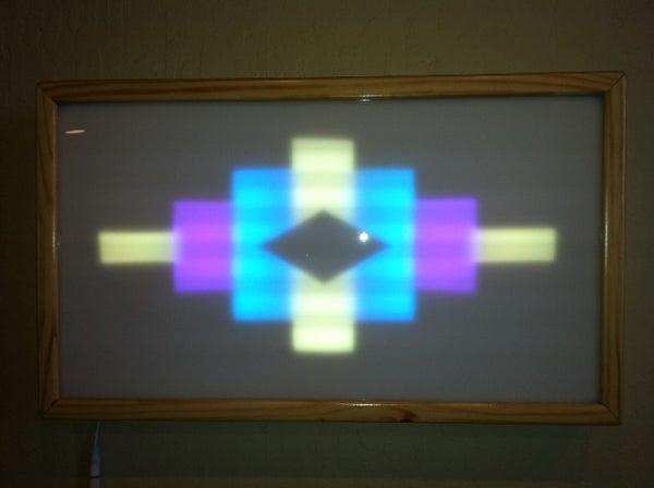 LED Light Box With Southwestern Design