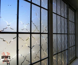 Beautiful Contact Paper Privacy Window!