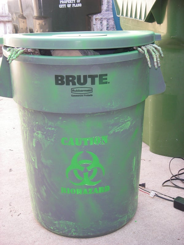 Trash Can Trauma Halloween Prop (From Kit and MAKE: Halloween Edition)