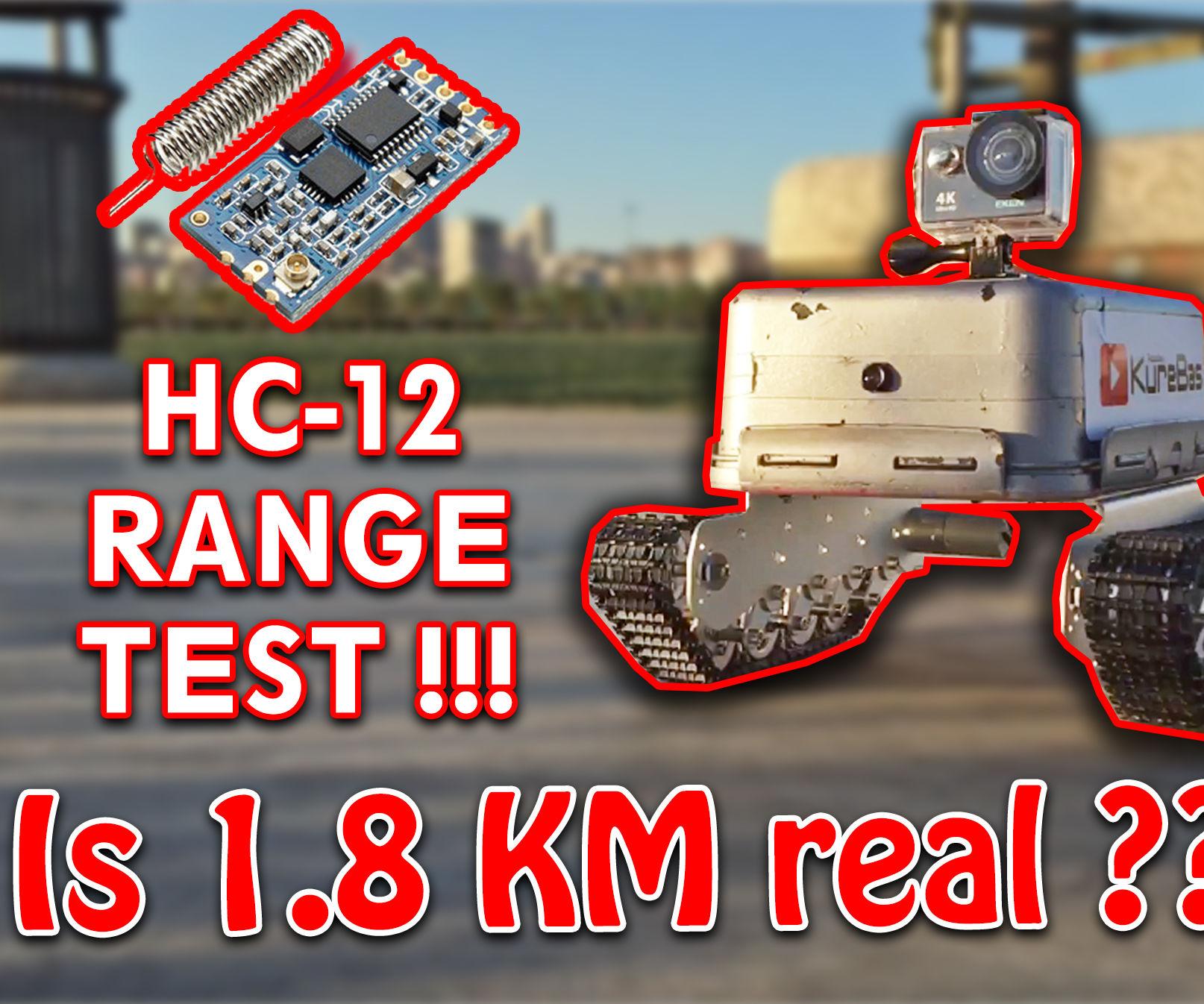 Long Range Explorer Arduino Tank - KureBas V3.0 (HC-12 1.8 KM)