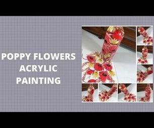 POPPY FLOWERS ACRYLIC PAINTING
