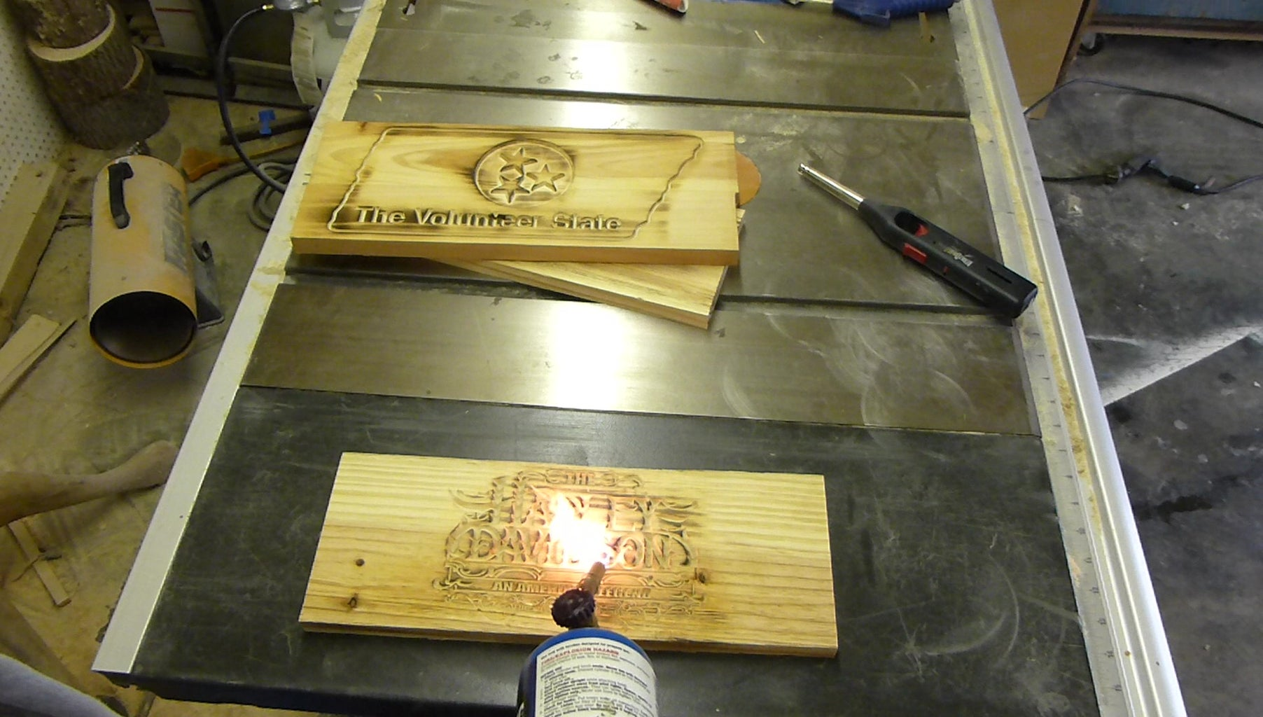 Stain Wood With a Torch