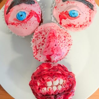 Zombie Mouth Cupcake