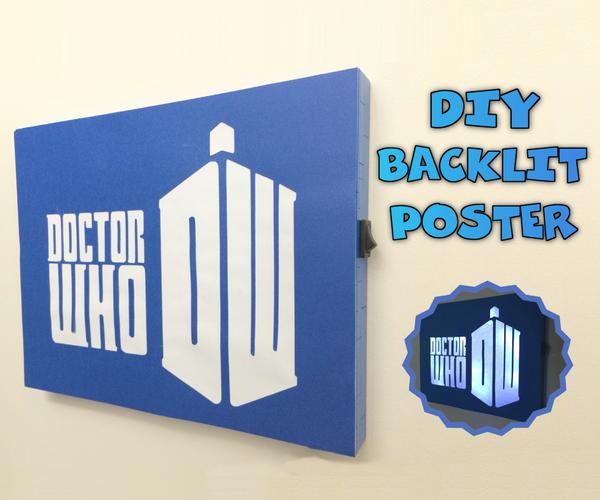 DIY Backlit Poster