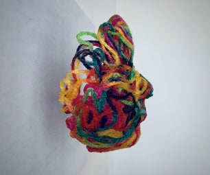 Yarn Suspended Sculpture : Silhouette