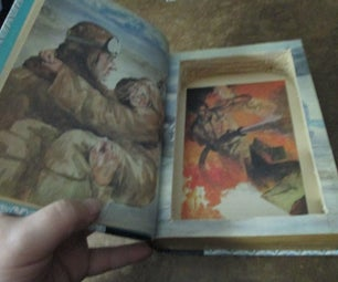 Hollowed Out Book Secret Compartment