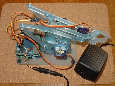 Interactive Path Following Robotic Arm  Using PfodApp