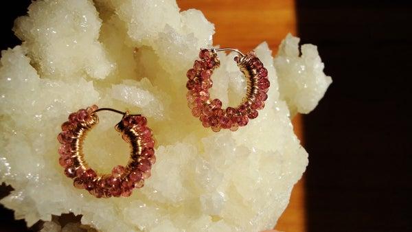 24kt Pink Tourmaline Earrings