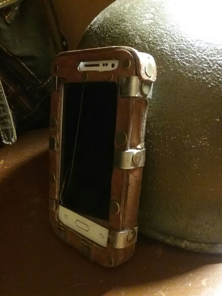 Samsung S3 Steel and Leather Case