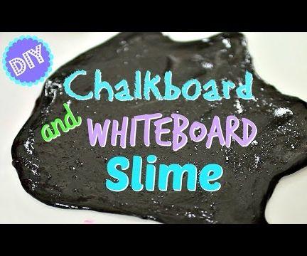 CHALKBOARD SLIME & WHITEBOARD SLIME!  2 KINDS OF WRITE-ON SLIME