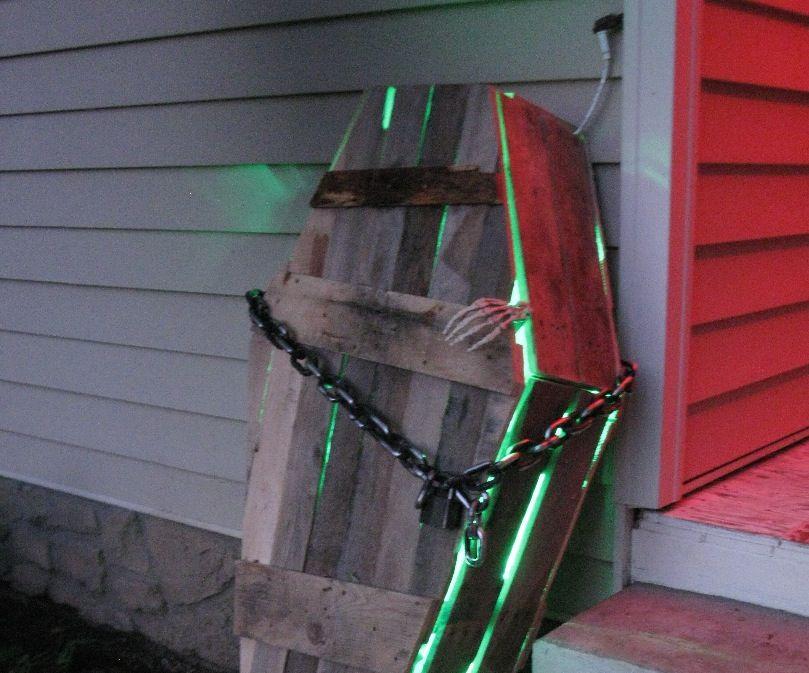 Pallet Halloween Coffin Decoration