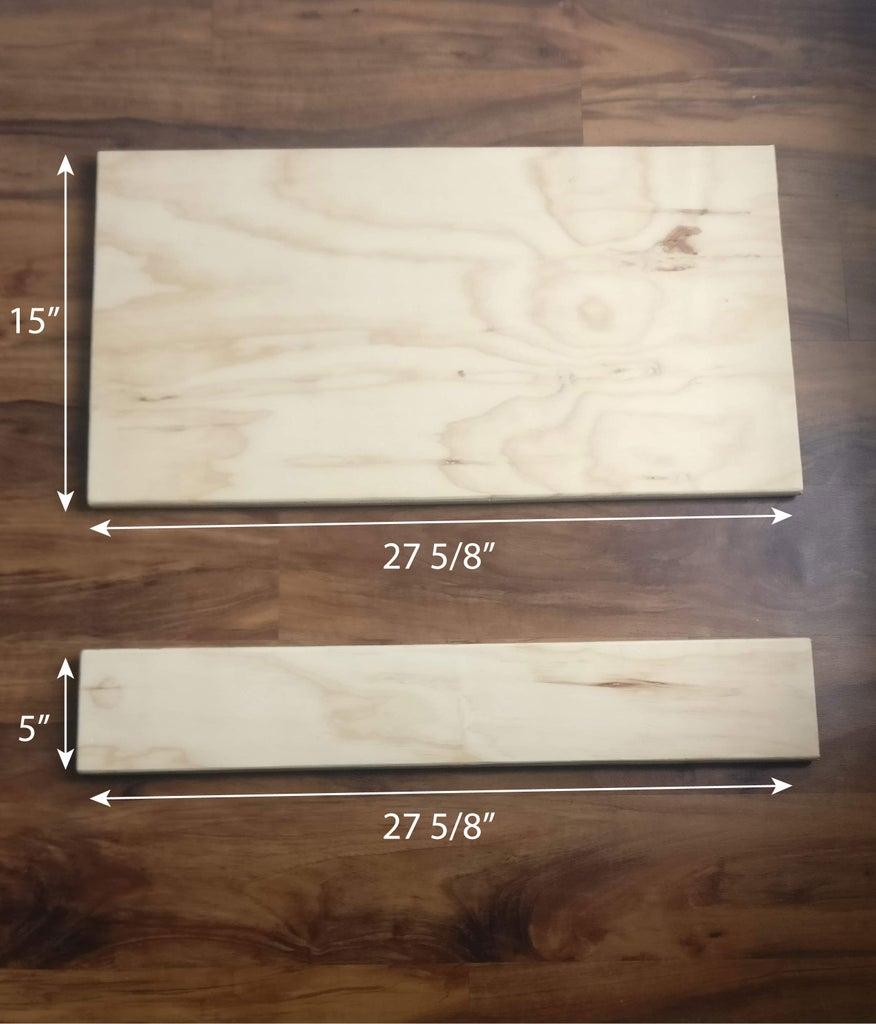 Cut Desktop and Shelf