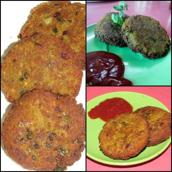 Indian Potatoes & Pressed Rice Cutlets