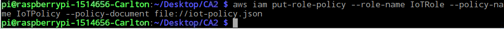 Creating Iot-policy.json File