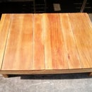Coffee table from recycled wood