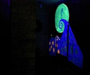 Black Light Entryway Mural