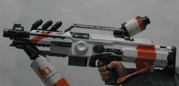 District 9 inspired Nerf mod