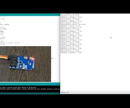 Humidity and Temperature Measurement using HTS221 and Arduino Nano
