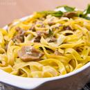 Fettuccine With Porcini Mushroom and White Wine